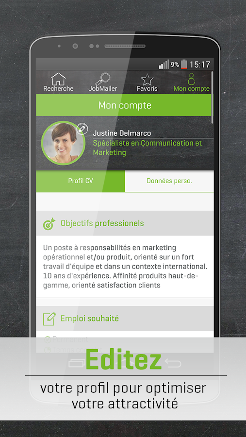 Jobup.ch, Offres Emploi Suisse- screenshot