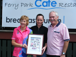 Photo: Thanking sponsors Ferry Park Cafe