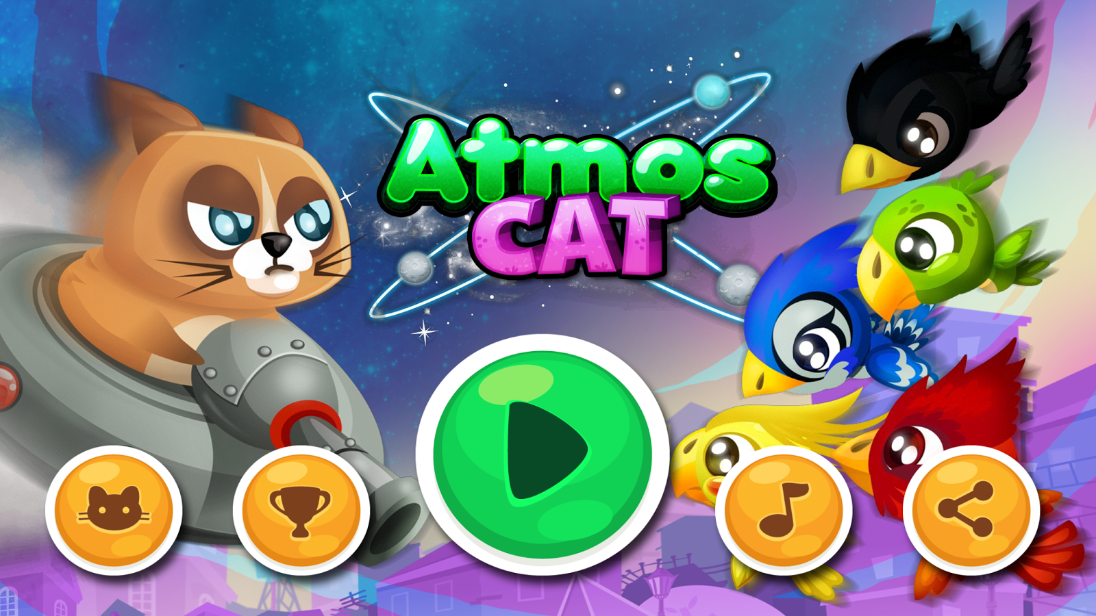 Atmoscat the UFO Riding Feline- screenshot