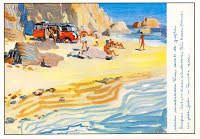 Lyxbuss på stranden
