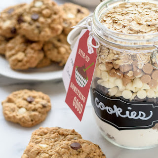Triple Chip Oatmeal Cookie Mix in a Jar.