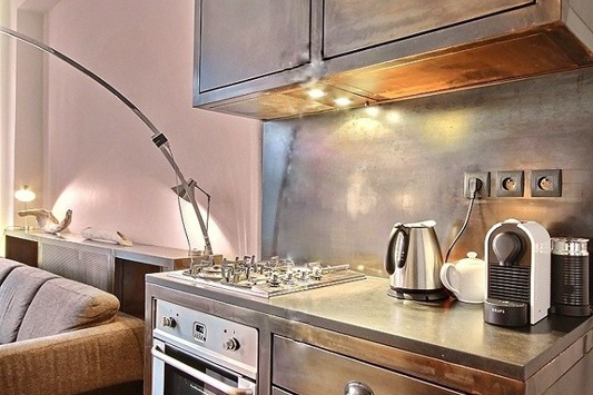 Equipped Kitchen at Paris Grands Boulevards Serviced Apartment, Opera