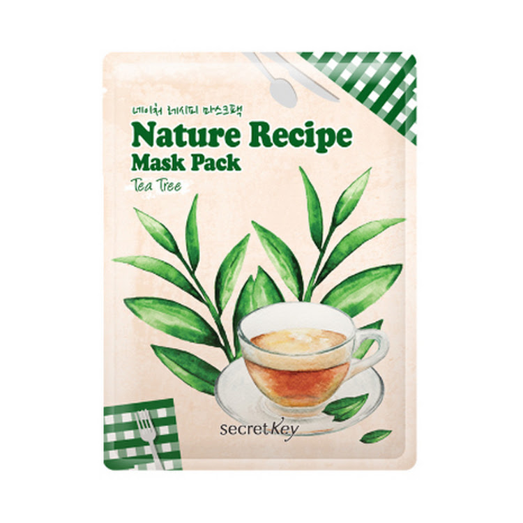 [SECRET KEY] Nature Recipe Mask Pack Tea Tree 20g Elastic skin by Supermodels Secrets