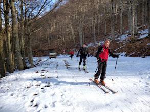 Photo: Partiamo su un debole strato di neve