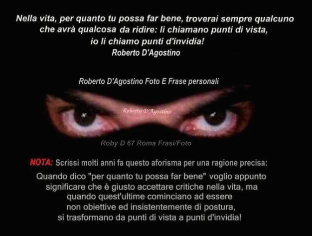 spesso Roberto D'Agostino. (Roby D 67 Roma) Poesia, aforismi, citazioni  LR76