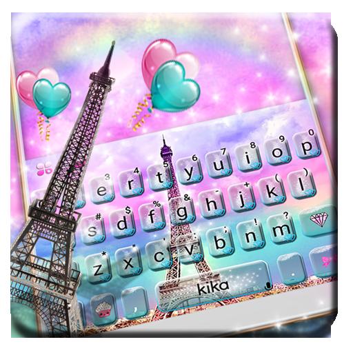Pink Paris Eiffel Tower love Keyboard Icon