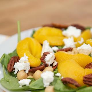 Chickpea, Warm Peach & Pecan Salad