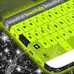 Neon Green Letters Keyboard