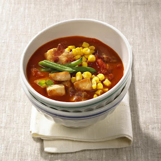 Chicken, Bacon and Corn Soup.