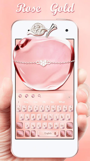 Download Rose Gold Apple Keyboard Theme on PC & Mac with