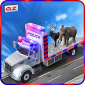 Police Truck Animals Transport