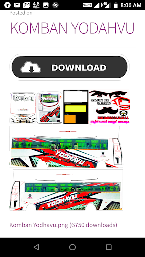 Indian bus mod livery by Kerala App Creators (Google Play, United