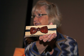 Photo: A cherry bow tie was presented to Bill by Marilyn Raefsnyder