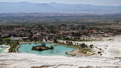 Photo: Pamukkale is a weird combination of natural attraction, man-made water park, and ancient ruins