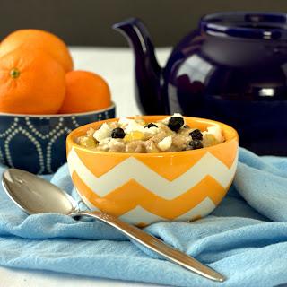 Lemon and Blueberry Oatmeal.