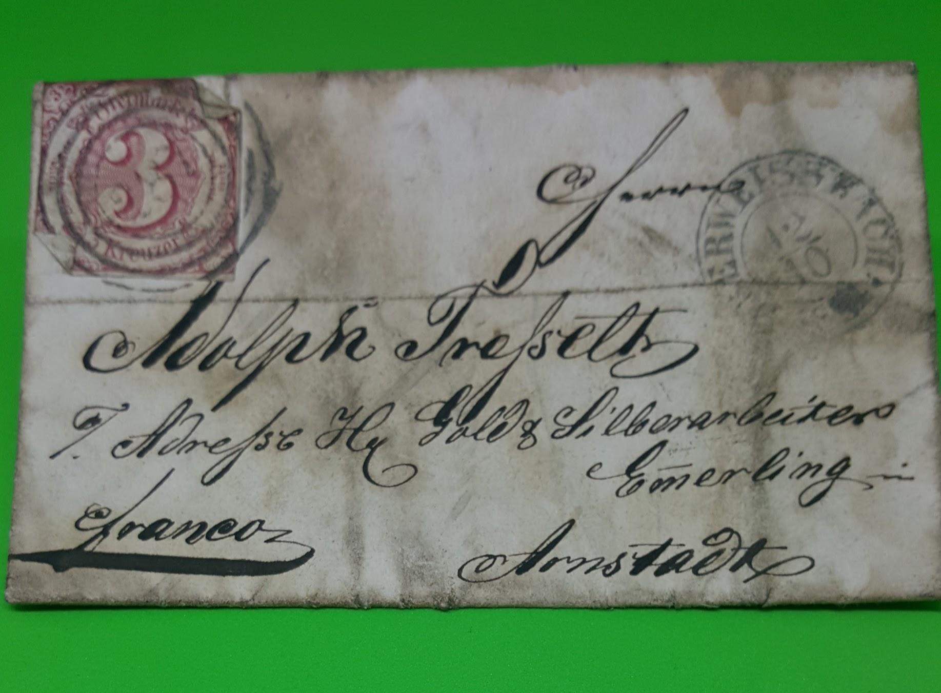Brief von 1864, Thurn und Taxis