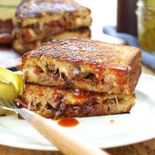 Barbecue Beef and Bacon Grilled Cheese.
