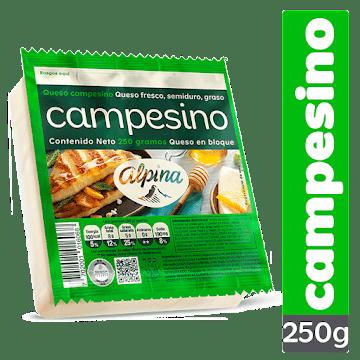 Queso ALPINA Campesino   Fresco Semiduro Graso x250g