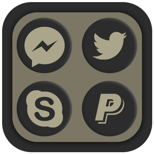 Shadowy Oreo Icon Pack