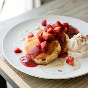 Strawberry Mochi Pancake