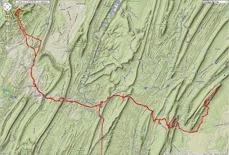 Photo: K8GP / Rover APRS route track - FM09WX, FN00WA, FM19AW, FN10CA, FN00RG