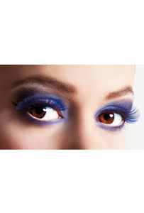 Lösögonfransar, basic blå