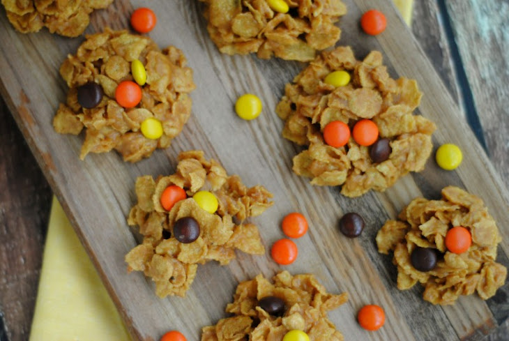 No Bake Peanut Butter Cornflake Cookies Recipe