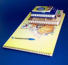 Photo: Cadernos, blocos e agendas e em vários tamanhos.