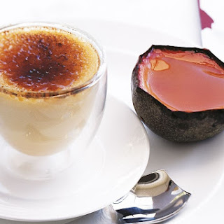 Passionfruit Creme Brulee With Passionfruit Jelly.