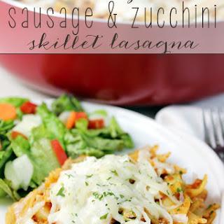 Weeknight Sausage & Zucchini Skillet Lasagna