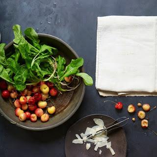 Arugula, Golden Cherries, Marcona Almonds and Parmigiano-Reggiano.