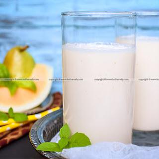 Shamam Milkshake, Musk Melon Milkshake, Cantaloupe Milkshake Recipe