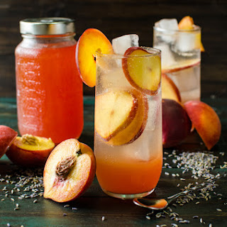 Lavender Peach Shrub Syrup Recipe