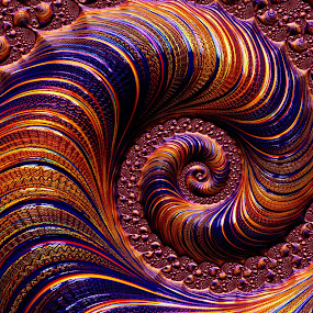 Tightly Coiled by Amanda Moore - Illustration Abstract & Patterns ( spirals, fractal art, digital art, spiral, fractal, fractals, digital )