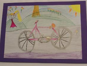 """Photo: praca Alicji :"""" Jeździmy rowerem bo ... to całkowita swoboda """""""
