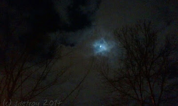 Photo: Grateful for the moon through the night sky and clouds.