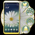 White Gerbera Daisy Theme icon