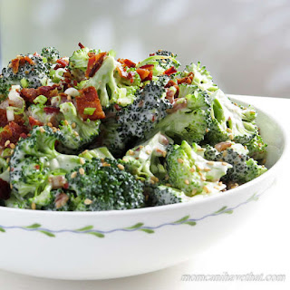Easy, Low Carb Bacon Broccoli Salad.