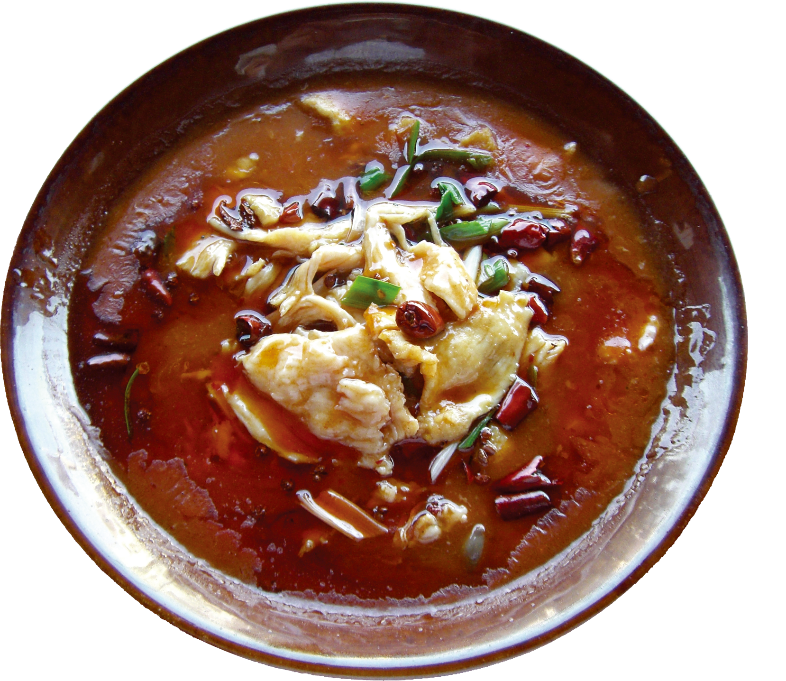 A bowl of soup  Description automatically generated