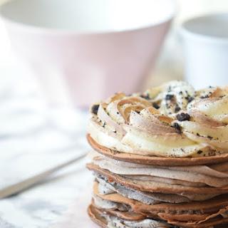 Oreo Pancakes with Oreo Frosting
