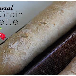 No-Knead Whole Grain Baguette Recipe