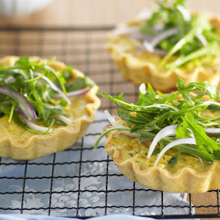 Salmon and Dill Quiches.