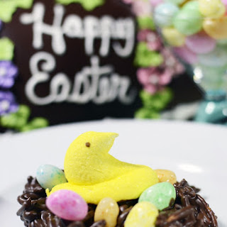 Easter Peeps in a Nest