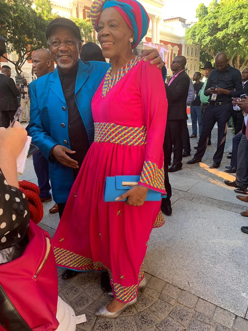 Reverend Kenneth Meshoe and his wife Lydia said they chose the colours to brighten the atmosphere at the state of the nation address in Cape Town on February 7 2019.