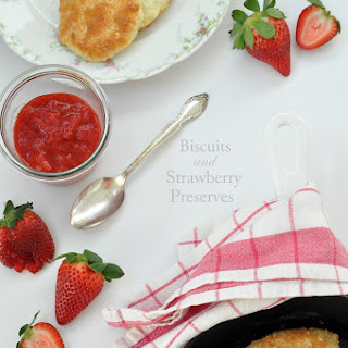 Fluffy Biscuits and Strawberry Preserves