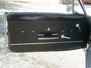 Photo: 1966 Corvair Corsa original door panels and trim. Emblem above armrest is Corsa specific.