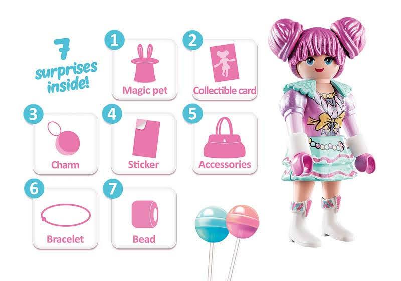 Contenido real de Playmobil® 70385 Candy World: Rosaliee