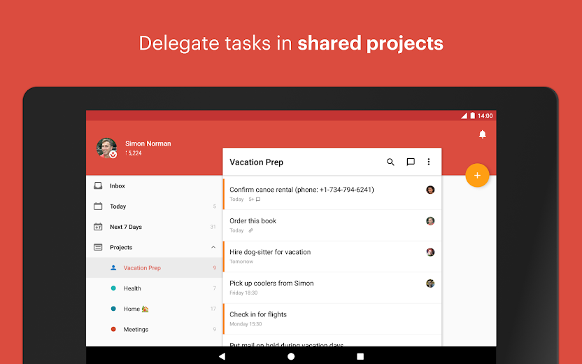 Screenshot 11 for Todoist's Android app'