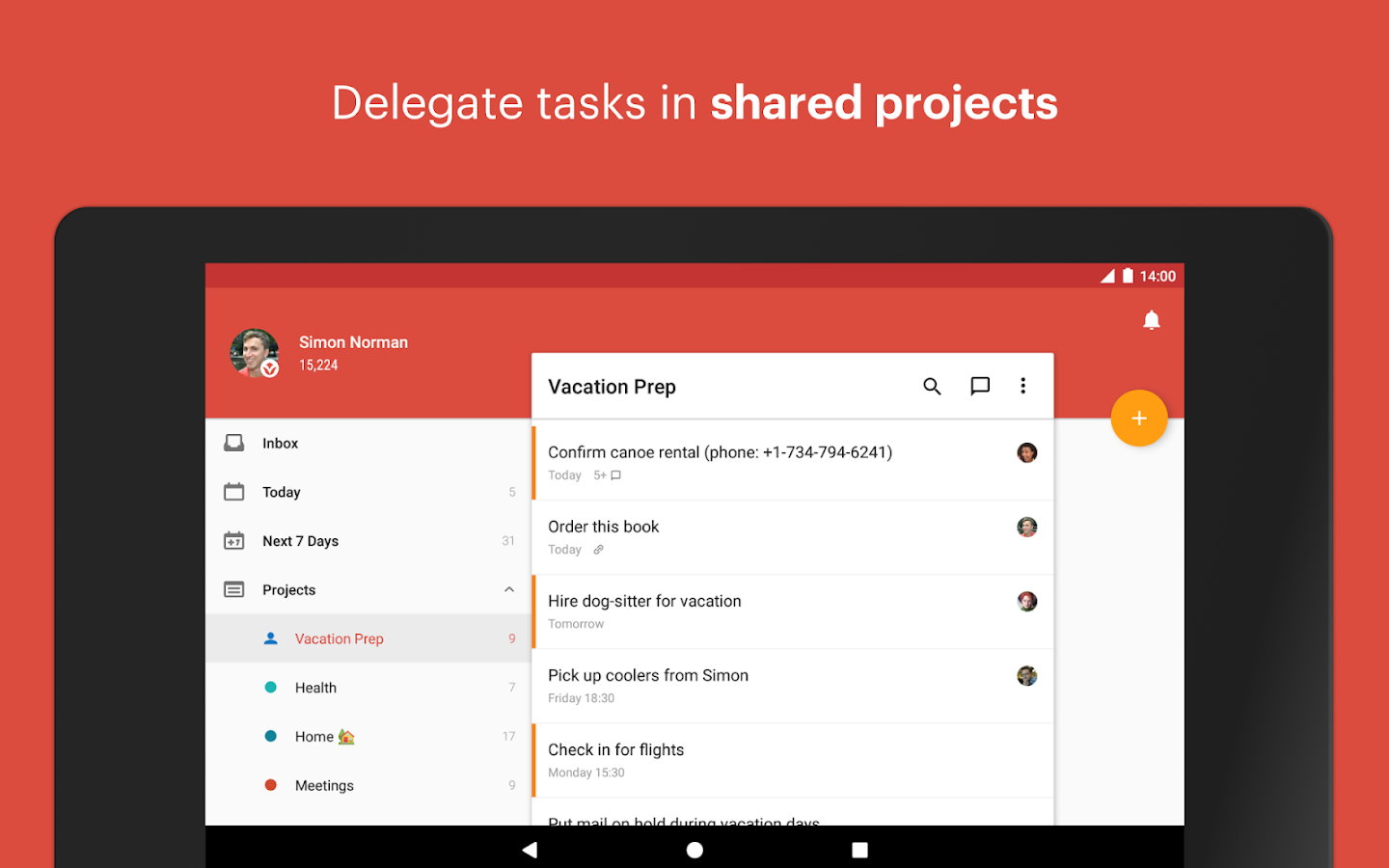 Todoist: To-do lists for task management & errands- screenshot