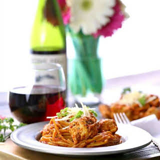 Easy One Pot Chicken Parmesan Pasta.